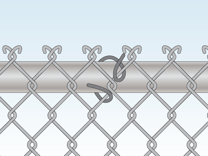 fence-ties-attaching-chain-link-to-top-rail