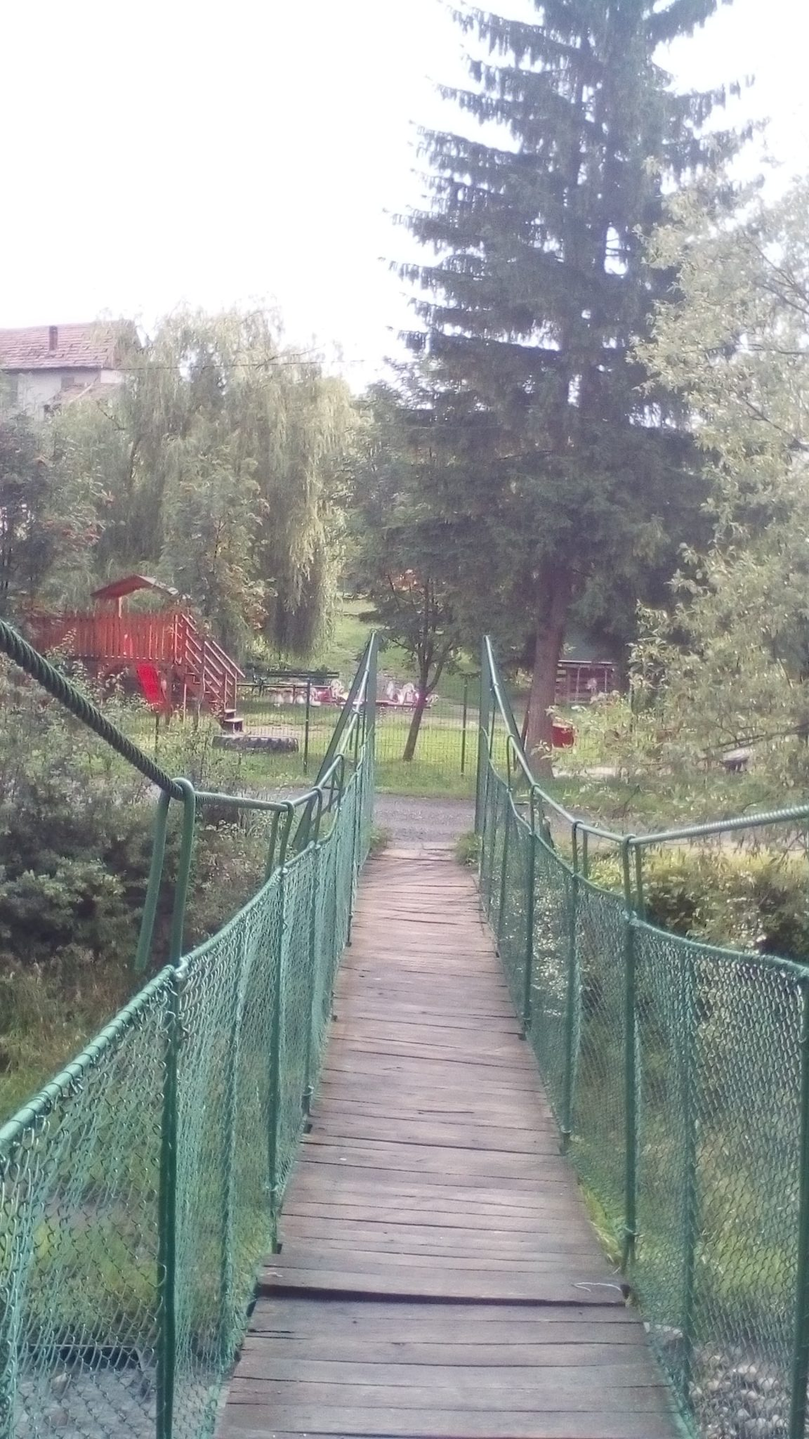 Barrier to Bridge Walkway