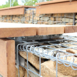 close-up-of-gabion-bench-attachment