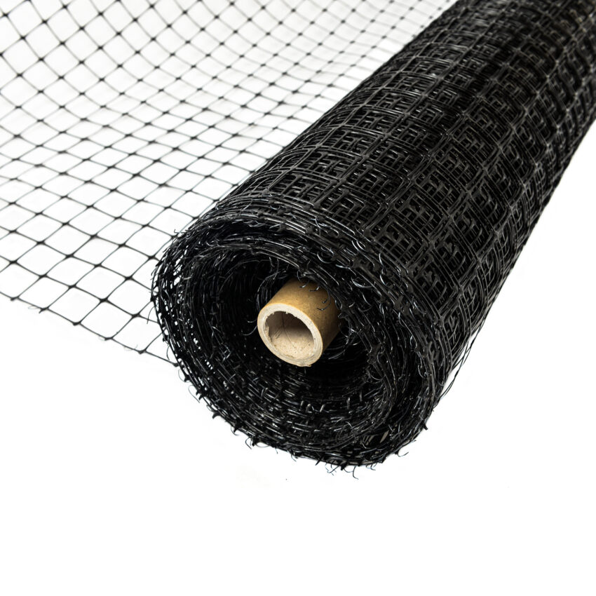 unrolled-black-plastic-deer-fence-netting