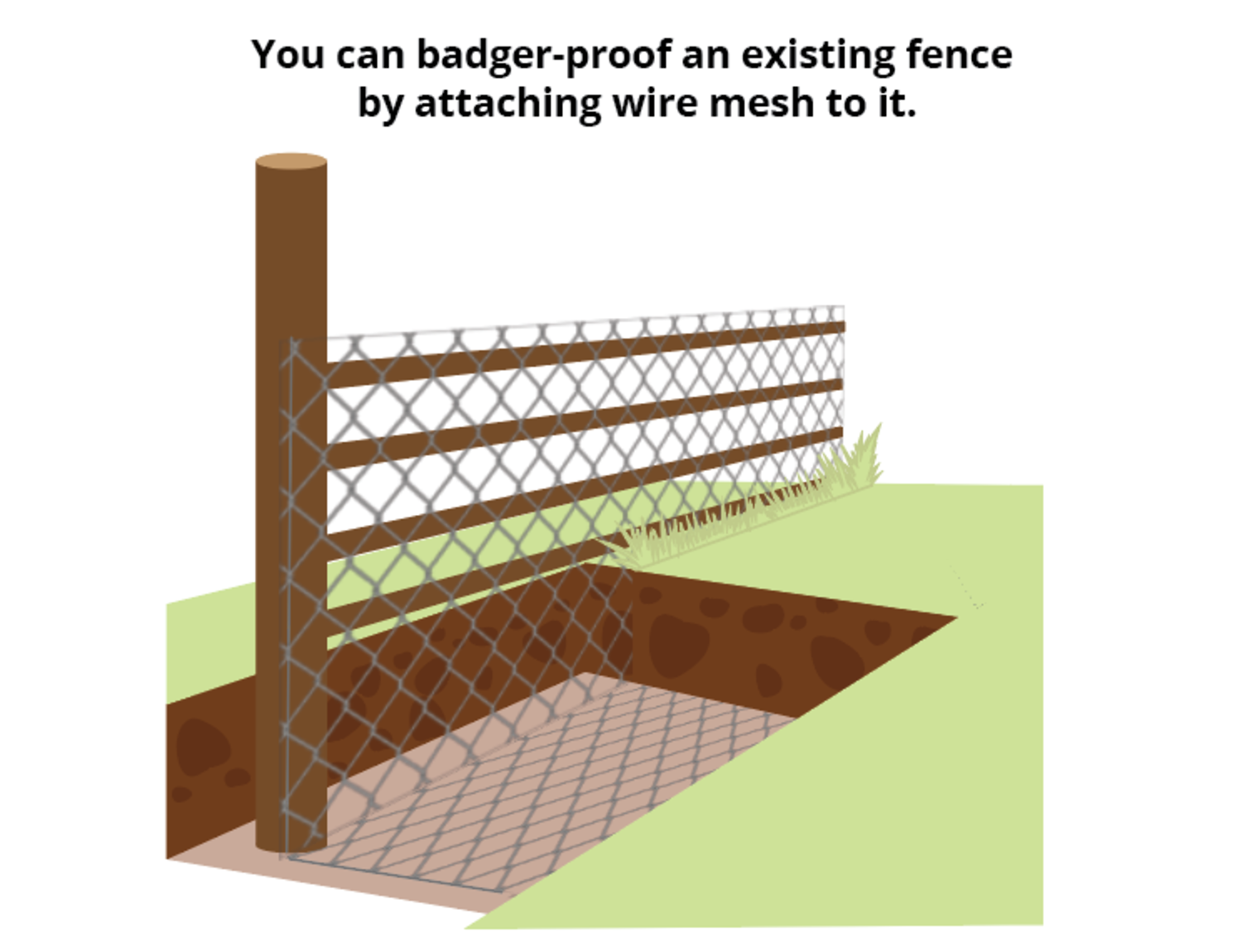 badger-proofing-existing-fence
