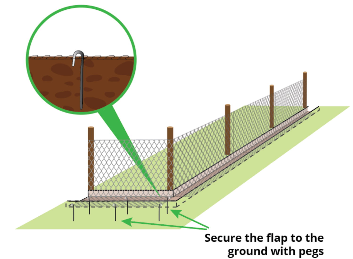 fixing-badger-fence-with-pegs