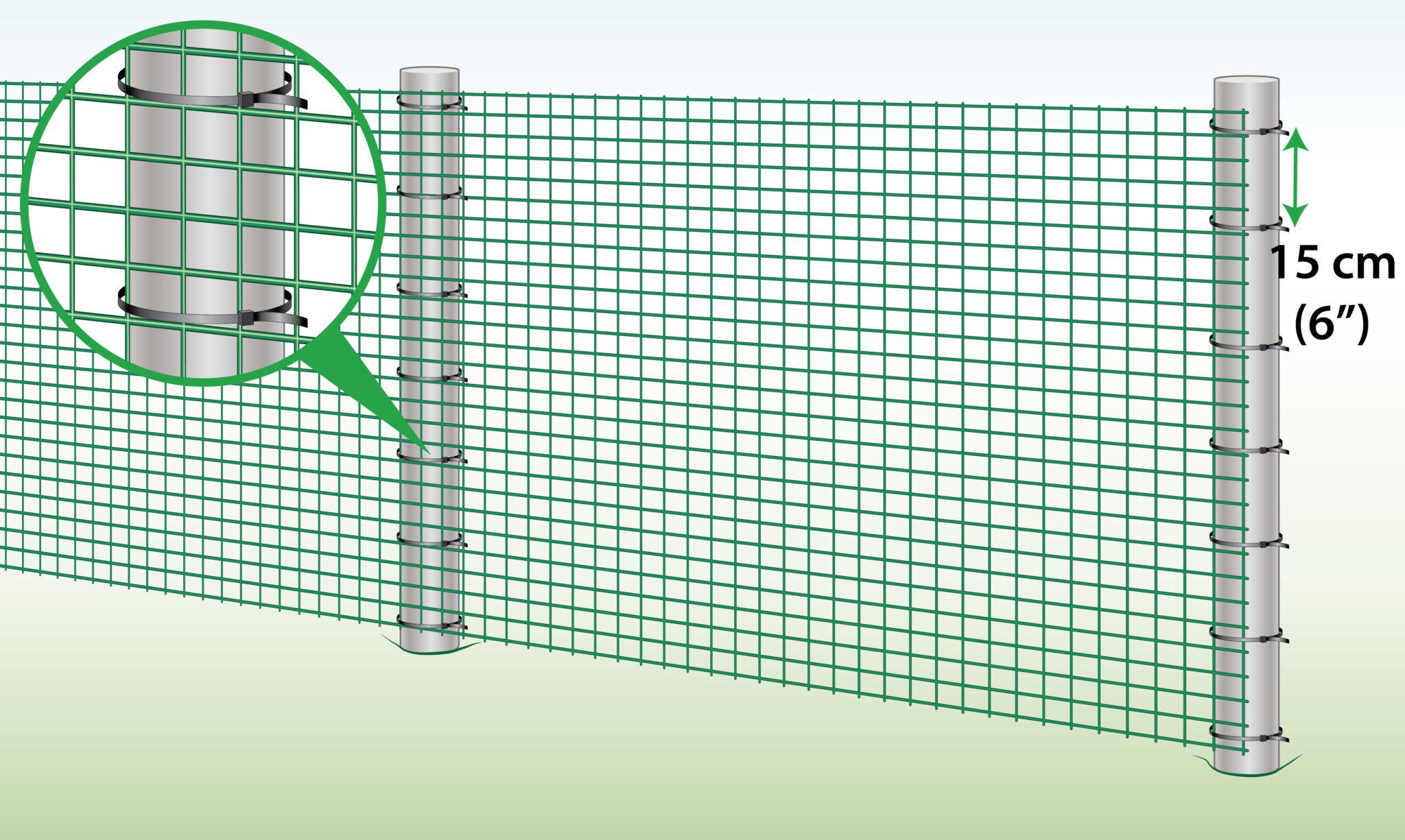 fix-plastic-mesh-to-steel-posts
