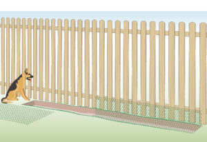 How to keep dogs from digging under a fence